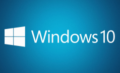 Windows 10 blue logo background
