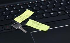 Passwords on post-its