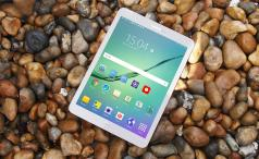Samsung Galaxy Tab S2 three-quarters
