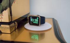 Apple Watch Magnetic Charging Dock with Watch in Nightstand mode