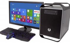 Palicomp AMD Nemesis Cube with keyboard, mouse and monitor