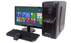 PC Specialist Invictus with keyboard, mouse and monitor