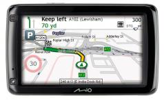 Mio 685 navigation screen