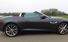 Jaguar F-Type V6 S Side Shot Roof Down