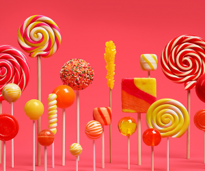 Android Lollipop red