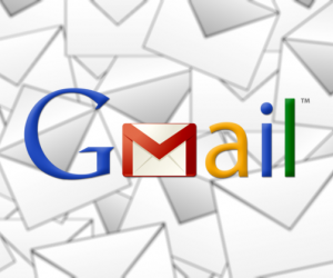 Gmail logo and envelopes