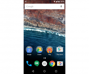 Android M - home screen