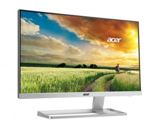 An angled view of the Acer S277HK 4K monitor