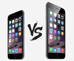 iPhone 6 vs iPhone 6 Plus header